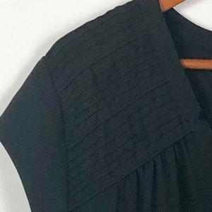 DR2 Tops - Black Sleeveless Semi-Sheer Top